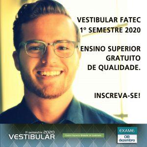 Vestibular FATEC –  Inscrições prorrogadas até às 15h do dia 13/11/2019