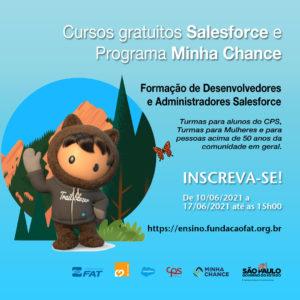Cursos gratuitos da Salesforce e Programa Minha Chance