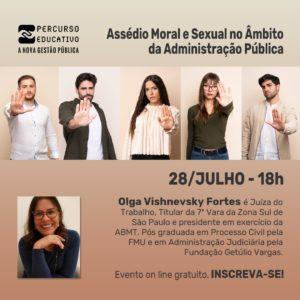 Webinar sobre assédio moral e sexual na administração pública
